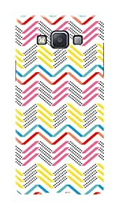 Samsung Galaxy A7 Black Hard Printed Case Cover by Hachi - Geomatrical Pattern Design