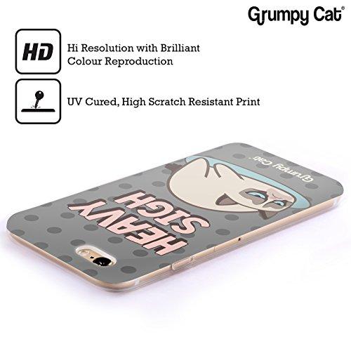 Offizielle Grumpy Cat Glückliches Gesicht Grumpmoji Soft Gel Hülle für Apple iPhone 5 / 5s / SE Seufzer