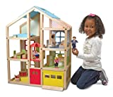 Melissa & Doug Hi-Rise Dollhouse and Furniture Set, Multi Color
