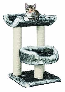 trixie arbre chat isaba noir blanc 62 cm. Black Bedroom Furniture Sets. Home Design Ideas
