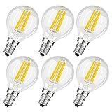 Albrillo 6er Pack Filament LED E14 G45 Fadenlampe, E14 Glühfaden Retrofit Classic, LED Birne als Kolbenlampe, 4W 400 Lumen Ersetzt 40W Glühlampe, warmweiß