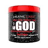 Insane Labz I am God Hardcore Pre Workout Booster Trainingsbooster Bodybuilding (Fruit Punch 293g Dose)