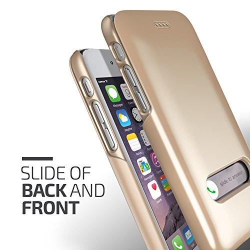 diapositive Verus Premium Étui de protection rigide fine avec Bumper pour Apple iPhone 6Doré Shine Gold