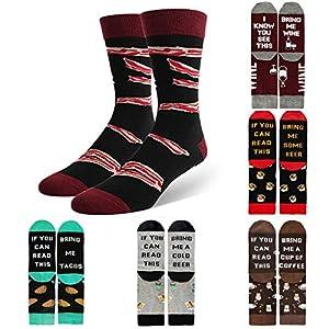 """Amphia – """"if you can Sohle mit BriefsohlenMänner Frauen Neuheit Funny Saying Crew Socken Wenn Sie diese Socken lesen können"""