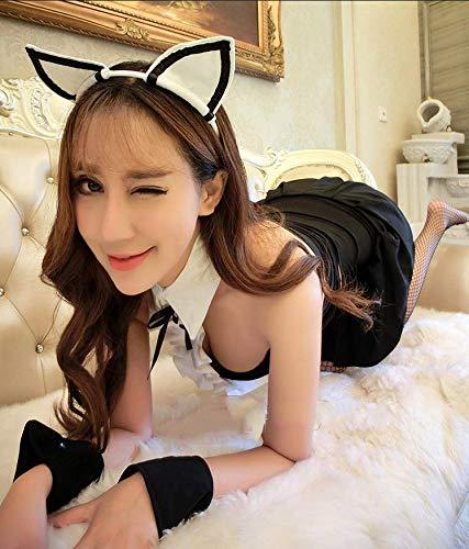 (WXNLEAI Sexy Dessous Mädchen Outfit cos sexy sexy Nachtclub Bunny Versuchung Anker einheitliche Rock Anzug, Größe, 3)