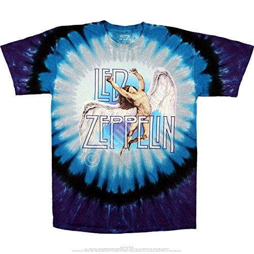 Liquid Blue LED ZEPPELIN SWAN SONG Tie-Dye T-Shirt sizes M - 6XL (Tie-dye-t-shirt Pattern)