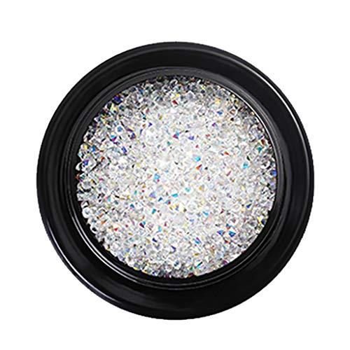 Nagel Kunst Strasssteine Nail Tips Diamant für Nail Art, Glitter Muschel Sand Deko Strass UV Gel Acryl Edelsteine 3D Nailart Rhinestones Nail Art