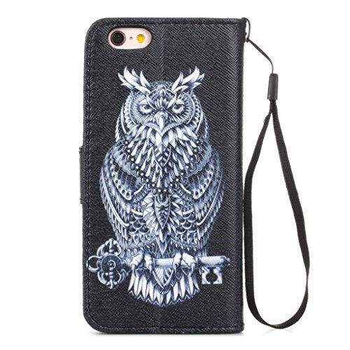 hyait® for iPhone 6/6S (4.7Zoll) Case Flip Leather Wallet With Card Holder and Kickstand Case Cover zmd12 ZMD08
