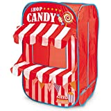 Mondo Toys Gioco Candy Shop/Negozio di Caramelle-Casetta dei Giochi per Interni ed Esterni per Ragazze e Bambini-Tenda Regalo Portatile per bambini-rossa/bianca-28338, 1