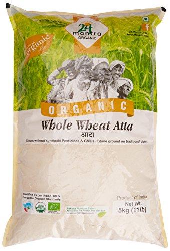 24 Mantra Organic Wholewheat Atta Premium, 5kg