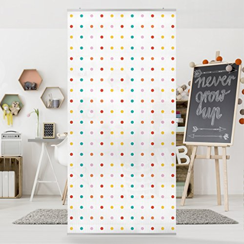 Panel Curtain   No.UL748 Little Dots 250x120cm | Hanging Room Divider Room  Divider Room