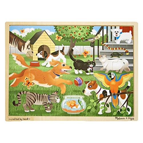 Melissa & Doug 19059 - Puzzlespiel aus Holz - Haustiere bei Spiel und Spaß