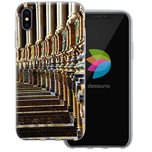 dessana Sevilla Spanien transparente Schutzhülle Handy Case Cover Tasche für Apple iPhone XS Max Sevilla Piazza Piazza Apple