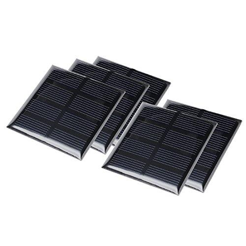 sourcing map® 5 Stk 2V 160 mA Poly Mini Solarzelle Panel-Modul Selberbasteln für Telefon Spielzeug Ladegerät DE