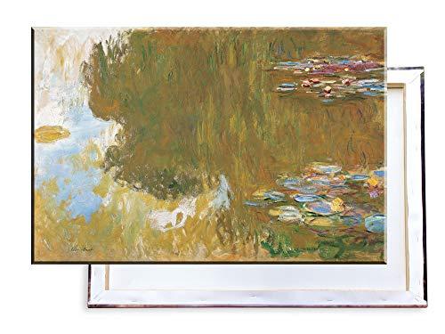 Unified Distribution Claude Monet - Der Seerosenteich - Klassisches Gemälde - Replik auf Leinwand 100x70 cm