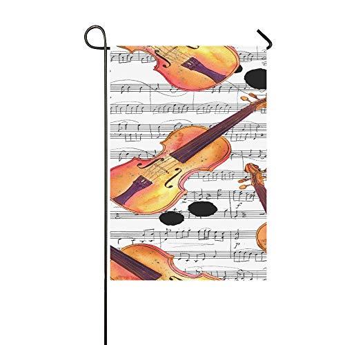 Dekorative Outdoor-Flagge, doppelseitig, nahtloser Hintergrund, mit handgezeichnetem Viol-Gartenfahne, Gartenhof Dekorationen, saisonale Willkommensflagge, 30,5 x 45,7 cm, Frühlingssommer-Geschenk