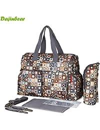 Baby Diaper Bags Mother Bag Shoulder Bag Fashion Maternity Bag Baby Carry Bag Waterproof 5 Pcs / SET - B07867V2BR