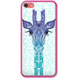 Axs2phone-Carcasa para iPhone, diseño de jirafa Glitter-Carcasa para iPhone 5C, diseño de lentejuelas, color azul de Monika Strigel, compatible con iPhone 5C, color rosa