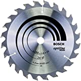 Bosch Zubehör 2608640817 Kreissägeblatt Optiline Wood 184 x 16 x 2,6 mm, 24