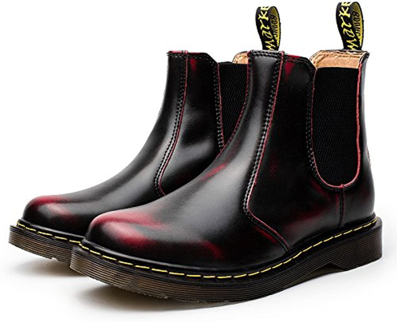 Gli stivali di cuoio corti stivali stivali stivali di cuoio, martin, alto, basso stivali e breve stivali per gli uomini.,gules,45 | unico  c17c34