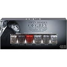 OPI Mini Kit Esmalte de Uñas, Tono 50 Shades Of Grey  - 6 x 3.75 ml