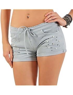 malito Pantalocini con Spumare Dettaglio e elastic cinturino dei Pantaloni 6082 Donna Taglia Unica