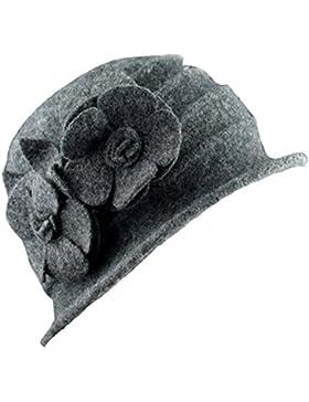 TININNA Inverno Caldo Elegante Cappello di lana pura Bombetta Berretto  classici per le Signora Donne 4820da6f96a0