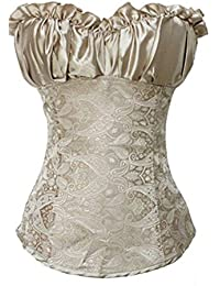 Autek Sexy Lady's os lingerie, Corset , avec Brocade et string assorti # 601