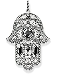 Thomas Sabo Women Pendant Hand of Fatima 925 Sterling Silver, Blackened PE732-645-24