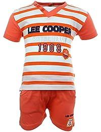 Lee Cooper Juntos Camiseta Mangas cortas y Pantalones corte Bebé Niños Royal Navy