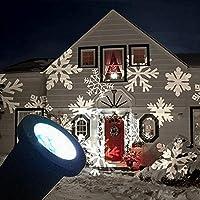 Luce del proiettore di Natale impermeabile dinamica del fiocco di neve Giardino Paesaggio cortile decorazione fase Lampada LED (bianco puro)