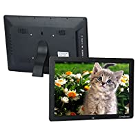 "‏‪Andoer 15"" Wide Screen HD LED Digital Picture Frame Digital Album High Resolution 1280 * 800 Electronic Photo Frame with Remote Control Multiple Functions Including LED Clock Calendar MP3 MP4 Movie‬‏"