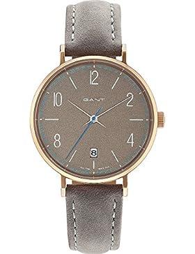 GANT Damen-Armbanduhr Analog Quarz One Size, grau, grau