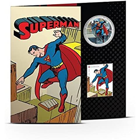 Lenticular Coin and Stamp Set - SupermanTM: Then and Now (2013) by ROYAL CANADIAN MINT