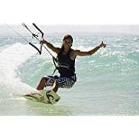 The Poster Corp Marcos Welsh/Design Pics – Woman Kitesurfing In Costa De La Luz