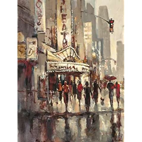 City Scene by Brent Heighton-Stampa su tela,
