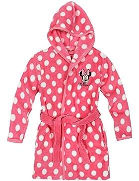 Disney Minnie Mädchen Coral fleece Bademantel mit Kapuze - pink