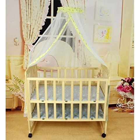 Topluck Baby Mosquito Net Baby Toddler Bed Crib Canopy Netting White Babe Dome Simple Hanging Mosquito Nets (Yellow) by Topluck - Canopy Toddler Crib