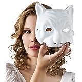 Máscara gato blanco para pintar adulto - Única