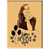 Incredible Gifts India Wooden Happy Birthday Unique Personalized Gift (5 X 4 Inch)