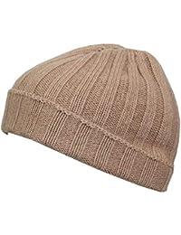 Cappello Unisex in Cashmere e Lana Taglia Unica - Caldo Berretto a Coste  Larghe Invernale Tinta 865de42cafde