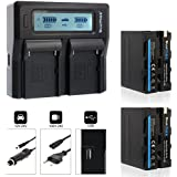 Blumax Batterie Kit pour Sony NP-F970avec 7850mAh et 7,4V