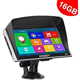 "Xgody 16GB (8GB ROM + 8GB TF Card ) 256RAM Capacitive 7"" Touchscreen 826 SAT NAV Truck Lorry GPS Navigation System Navigator Support FM MP3 MP4 Lifetime Maps Update with Sun Shade(826F+TF)"