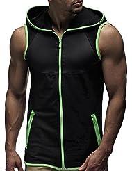 AOWA - Hombres Chaleco de Deportes al Aire Libre Camiseta Encapuchada sin Mangas, Talla Europe