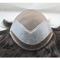 Estado Natural negro Natural de pelo para hombre non-surgical soldado Mono pelo de repuesto