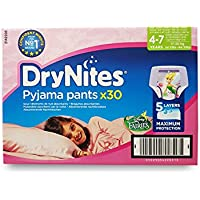 Braguitas Huggies DryNites para niñas de 4 a 7 años, 30 unidades