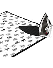 Encasa Homes Ironing Mat (Large 120 x 70 cm) with 3mm Felt Padding, Silicone Iron Rest Protector, For Steam Press on Table or Bed, Portable, Heat Reflective, Foldable, Washable, Printed - Black Arrow
