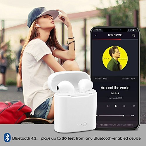 Bluetooth-Headset, Stereo-Headset, Das mit dem Samsung Galaxy S7 S8 Plus, iPad/Android-Smartphone-Sport-Headset kompatibel ist… - 7