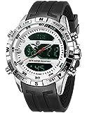 Hooktooth Shark Herren Quarz Armbanduhr Silikon LCD Stoppuhr Alarm Timer SH595