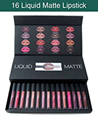 Globex Huda Combo Liquid Matte Lipstick - Set Of 16 Piece